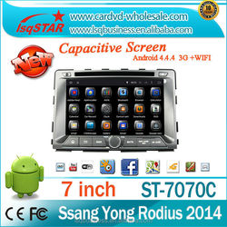 8 inch 4.4.4 dual core A9 android car dvd player for SSANGYONG RODIUS/REXTON 2014