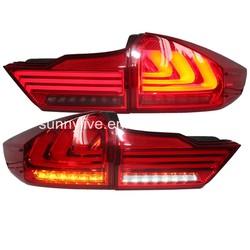 For HONDA 2014 year For City LED Rear Light Red Black Color 3 led strips YZ