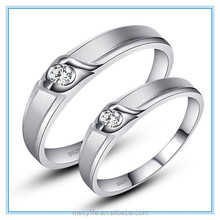 MECY LIFE hot selling new design kiss of angel and engrave S925 silver high quality silver ring couple