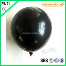 """Black Latex 10 """"Latex Balloon For Halloween EN 71"""
