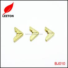 Hardware accessories decorative gold metal corner for purse