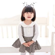 80181 imported childrens clothing children suspender skirt all-march dress