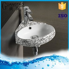 GT-3051W bathroom coloured wash corner sink basin
