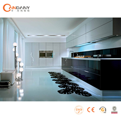 Integrated modern combined acrylic kitchen cabinet OEM,kitchen cabinet plate rack