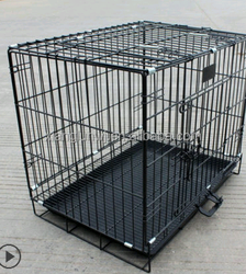 unique style bold folding strong wire dog cage (factory)/foldable dog cage /bold dog cage