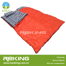 double sleeping bag with pillows