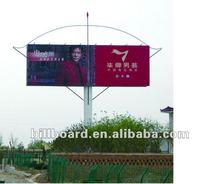 two-side advertising steel structure billboard