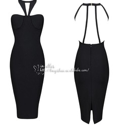 2015 in-alles Summer Spaghetti Strap Bodycon Bandage Dress Backless V-neck High Waist Cut Out Dress Party dress