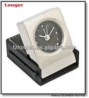 2016 new fashion metal table alarm clock ce travel alarm clock foling analog clocks
