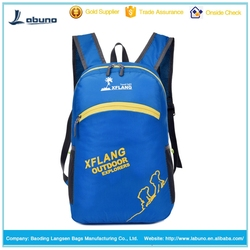 Best Selling Small Folding Backpack oxford cloth camping backpack china factory