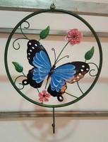 Metal Blue Butterfly Wall Decor Art Garden Unique Indoor Outdoor Patio Decor