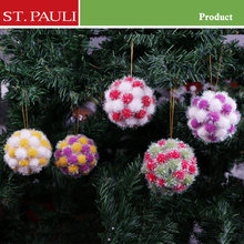 Drop shipping pompon polyfoam tree decoration promotional ornaments pompom