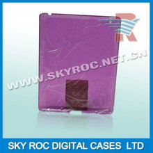 2013 New transparent plastic back cover with high quality for ipad 2 /Roc brand