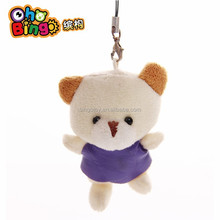 China Factory Cute Plush Stuffed Bear Keychain Pendant