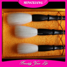 Chinese writing brush set, wood handle and pure goat hair calligraphy brush, brush pen