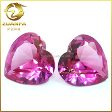 Wuzhou wholesale factory direct sell price loose ruby 3# heart cut stones for jewelry