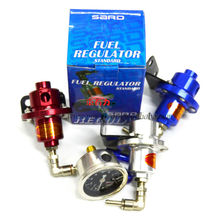 Colored SARD Adjustable Fuel Pressure Regulator With Oil Gauge Meter
