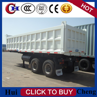 Large Capacity Heavy Tipper Truck/ Semi Dump Trailer for Sale