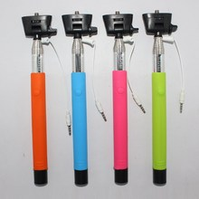 Extendable Wired Handheld Monopod Selfie Stick+Phone Holder Remote shutter for Iphone 6 5S 5 4S Samsung Galaxy Note 4 3 S6 S5 S4