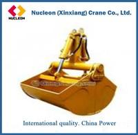 Metal Industry Clam Shell Grab Overhead Crane With Handling Grab