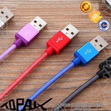 1.2 usd cheap but beautiful colorful net braided usb cable