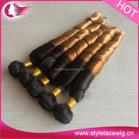 Aunty funmi hair alibaba hot new products for 2015 spring curly cheap human ombre hair weaves