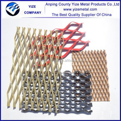 New PVC Expanded Metal Mesh/Decorative facade panel aluminum expanded metal panel/Metal fence panels