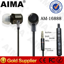 AIMA New Earphone for mobile phone, with Mic and Volume Control, suit for all the mobile phones and PC like iPhone/Nokia/Samsung