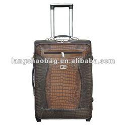 Leather Animal Print Luggage