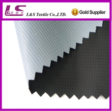 50D 290T polyester jacquard fabric woven coated fabric for outdoor garment with pu coating