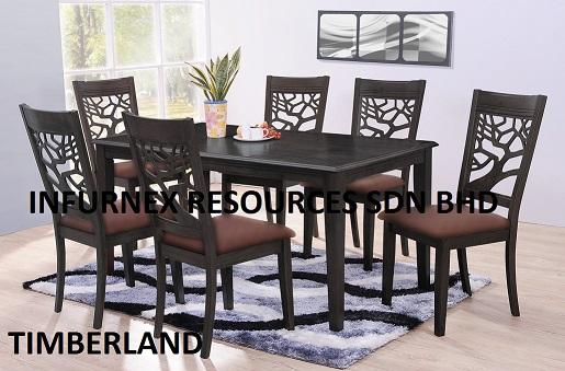 Malaysia Furniture Dining Set Wood Furniture Table Chair Dining Room Furniture Home Furniture