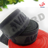 1.5 inch black nylon and rubber waistband linling for man underwear