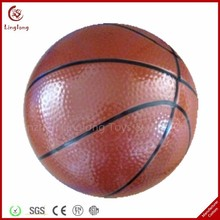 PU leather stress ball soft stuffed basketball brown 4 inches PU leather basketballs