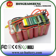 Hot sales 22.2V 2200mah lithium ion battery pack for diving kits /diving light