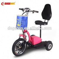 Trade Assurance 350w/500w lithium battery two wheel city adult flicker scooter flicker 3 wheel scooter with front suspension