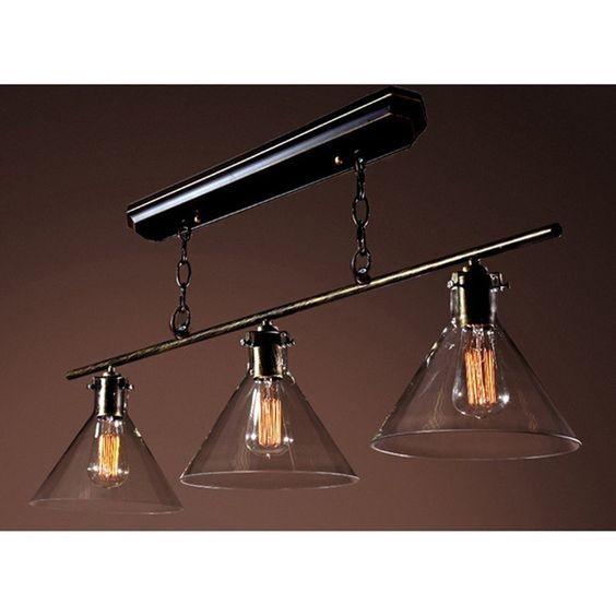 Cuisine en fer forg lustre pendentif luminaire 3 lumi res de billard clairage mural luminaire - Lampe pour table de billard ...