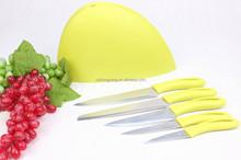 Coloful 5pcs kitchen knife set with block/chef knife