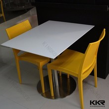 20mm thin thickness artificial stone white coffee tables and restaurant counters