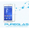 Super hot fingerprint free screen protector with design pureglas brand retail package for sony z3 / z4