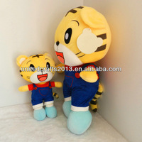 new lovely baby tiger soft velour plush toys stuffed with clothing