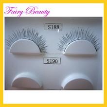 korea fibre eyelashes extensions makeup natural false lashes silk mink eye lashes