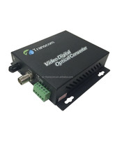 Optical Video Converter 1 positive video+1 return data /fiber optic video camera/cctv fiber optic camera
