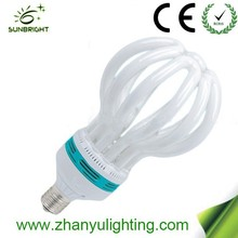 Lighting manufacturer 220v cfl lotus 5u energy saving lamp 105w 17mm with CE and RoHs