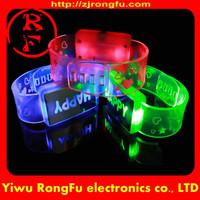 Wholesale glow silicone bracelet/glow in dark slap bracelet/glow in the dark silicone bracelet
