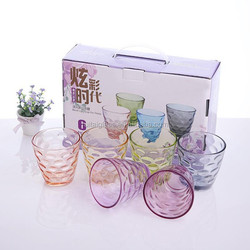 Creative small colorful disposable coffee glass cup/tumbler