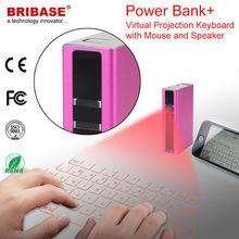 Professional Factory Slim Wireless Bluetooth Connection Virtual Laser Projection Keyboard with Power Bank