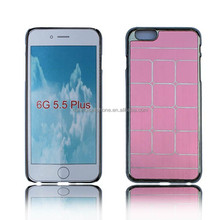 For Iphone 6 Plus metal with chrome frame case ,rugged case for iphone 6 plus