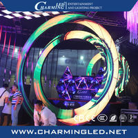 dj screen for nightclub special shape ring led display big screen moving led display round shape stage disco transparent led dig