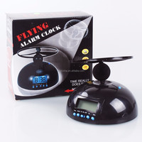 2015 Hot Sale Novel Flying Helicopter Digital Alarm Clock For Kids Gift Black