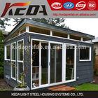 Villa de aço leve estrutura de aço do escritório do estúdio galpão quiosque kit pré-fabricada casas para venda